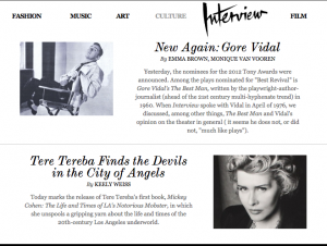 Interview Magazine: Tereba Finds the Devils in the City of Angels